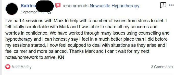 Newcastle Hypnotherapy Anxiety Treatment Review